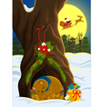 Christmas in the forest vector image