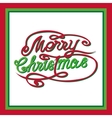 MERRY CHRISTMAS hand letteringcustom handmade vector image