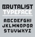 Brutalist typeface vector image vector image
