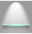 Color empty glass shelf on the wall vector image