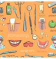 Dental seamless pattern vector image