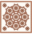 Oriental ornament on shawl vector image