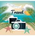 camera photography travel vacation design vector image