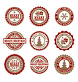 Christmas Badges vector image