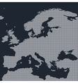 Europe dotted map on black background vector image