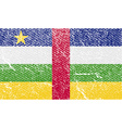 Flag of Central African Republic with old texture vector image