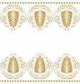 Golden elegant border in damask retro style vector image
