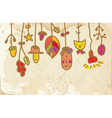 Kids banner on the paper funny vector image