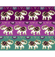 Traditional indian elephant background vector image