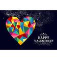 Valentines heart love vector image