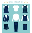 School Uniforms for Children Kids Clothes vector image