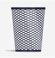 wire holder basket office organizer box vector image