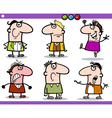 cartoon people emotions characters set vector image