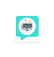 chatbot in chatting bubble speech icon vector image