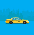taxi car flat styled vector image