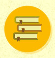 round icon pile of 3 books symbol education vector image