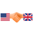 countries handshake vector image vector image