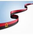 Angolan flag background vector image