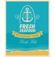 banner for a seafood restaurant vector image vector image