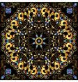 Circular gold ornaments vector image