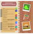 Ethiopia infographics statistical data sights vector image