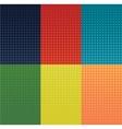 grunge halftone banners set Dot vector image
