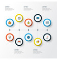 job colorful outline icons set collection of vector image