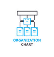 organization chart concept outline icon linear vector image