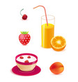 set of healthy food breakfast vector image