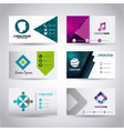 set of themed business card presentation templates vector image