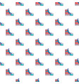 sneakers hipster shoes pattern seamless vector image