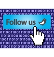follow us vector image vector image