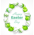 Easter eggs with ribbons vector image