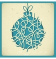Christmas decorations in vintage style vector image
