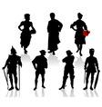 actors in costumes  3 vector image