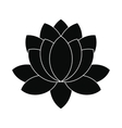 Blue lotus flower icon simple style vector image
