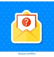 Icon of envelope with message vector image