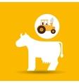 farm countryside tractor cawler design vector image