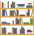 Bookshelves vector image
