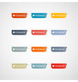 Colorful feedback icons vector image