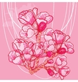 delicate spring flower on background vector image