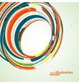 Futuristic abstract shape technology vector image