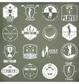 golf labels badges and emblems vector image