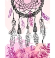 hand drawn dreamcatcher vector image