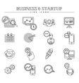 Business and startup line icons set vector image