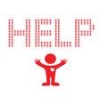 help vector image