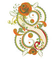 colorful floral eight vector image