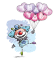 Clown with Heart Balloons Saying Thank You Boy vector image