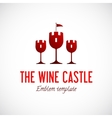 Abstract Wine Glass Castle Concept Symbol Icon vector image