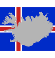 Map and flag of Iceland vector image vector image